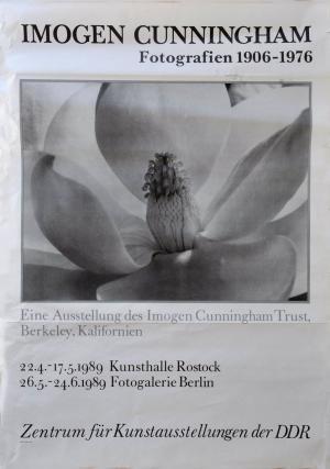 Plakat-Imogen-Cunningham-Fotografien-1906-1976-26.5.-24.6.1989