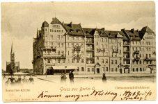 Die-ersten-Wohnungen-des-Samariterviertels-die-Genossenschaftshaeuser-des-Spar-und-Baivereins-um-1898-FHXB-Museum-Archiv-Ansichtskarte