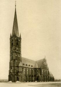 Die Samariterkirche auf freiem Feld, 1894; FHXB Museum Ansichtskarte
